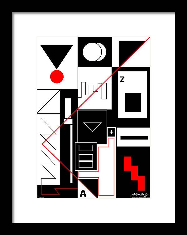 Asbjorn Lonvig Framed Print featuring the digital art Perception II by Asbjorn Lonvig