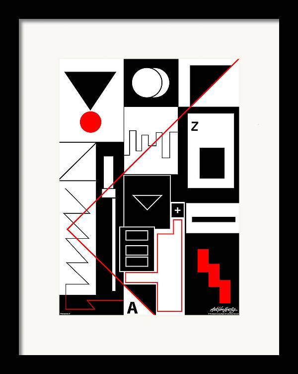 Asbjorn Lonvig Framed Print featuring the digital art Perception II by Asbjorn Lonvig