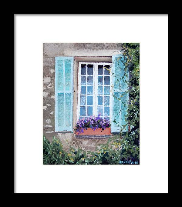 Provence Framed Print featuring the pastel Perched Purples by Jeanne Rosier Smith