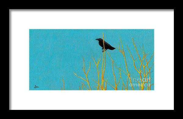Tree Framed Print featuring the painting Perched by Scott Alberts