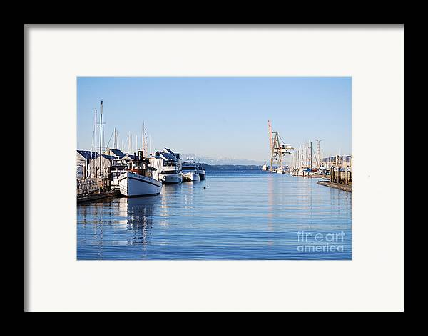Olympia Framed Print featuring the photograph Percival Landing by Larry Keahey