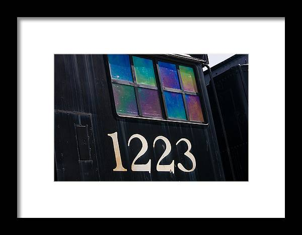 3scape Framed Print featuring the photograph Pere Marquette Locomotive 1223 by Adam Romanowicz
