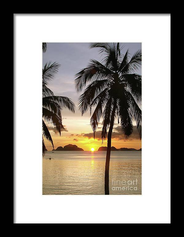 Beach Framed Print featuring the photograph Perfect Evening - Vertical by Delphimages Photo Creations