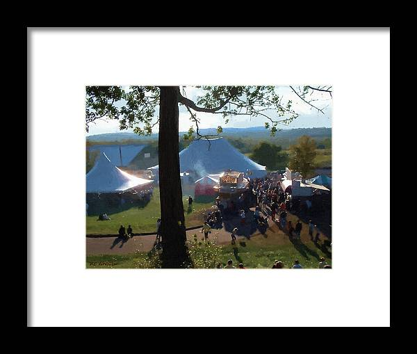 Afternoon Framed Print featuring the painting Perfect Fair Weather by RC DeWinter