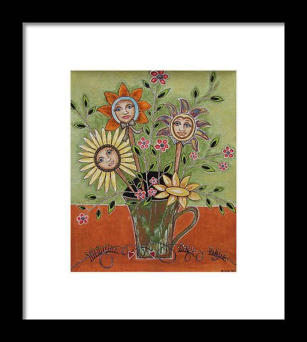 Folk Art Paintings Framed Print featuring the painting Perfect Garden by Rain Ririn