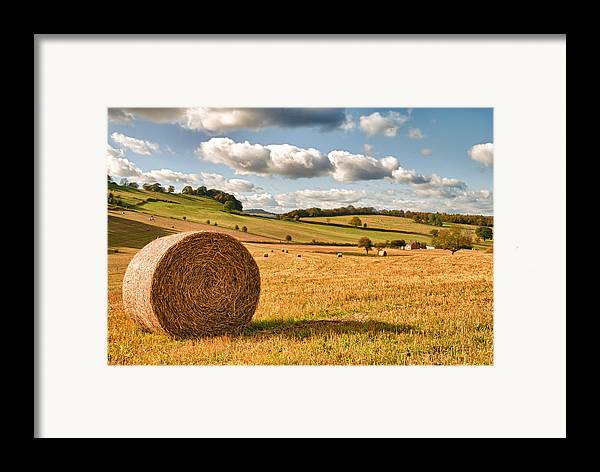 Straw Framed Print featuring the photograph Perfect Harvest Landscape by Amanda Elwell