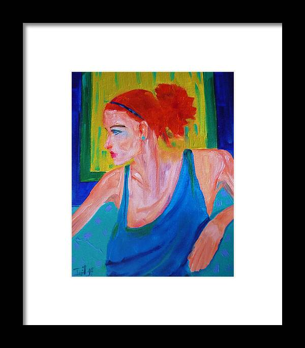 Figurative Framed Print featuring the painting Perfect Match by Irit Bourla