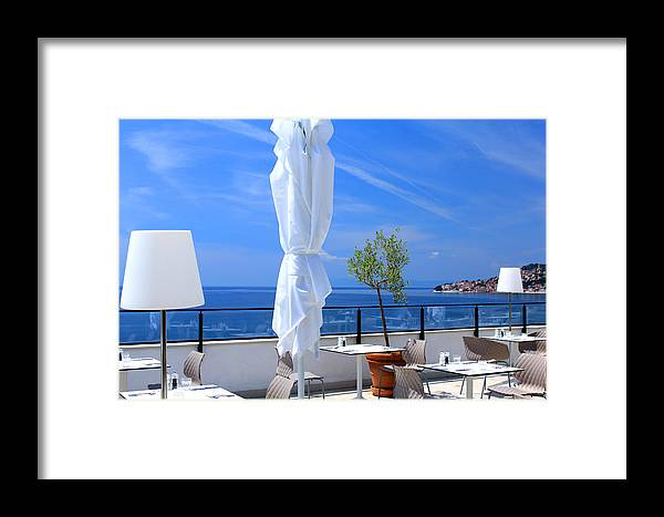 Summer Framed Print featuring the photograph Perfect Place For The Lunhch With Seaview by Inna Samoilova