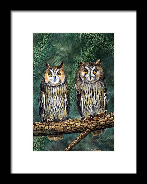 Wildlife Framed Print featuring the painting Perfect Strangers by Frank Wilson