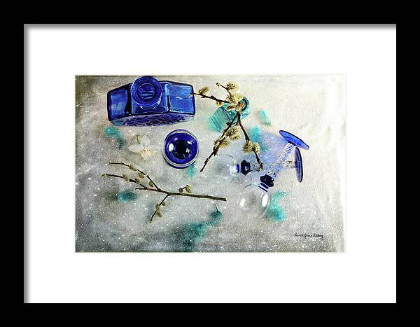 Blue Framed Print featuring the photograph Perfectly Blue by Randi Grace Nilsberg