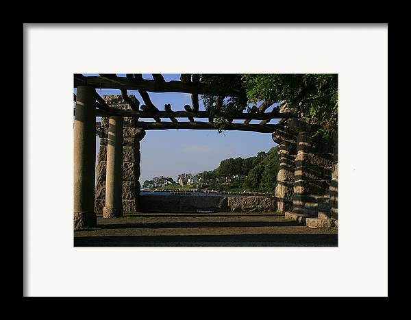 Motgan Memorial Park Framed Print featuring the photograph Pergola by Christopher Kirby