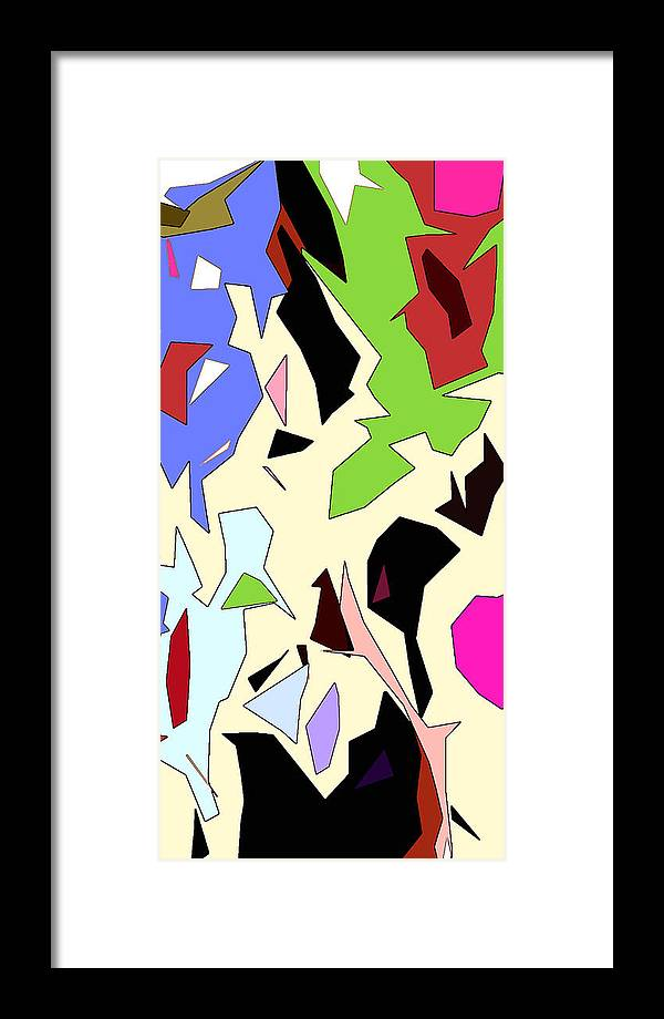 Abstract Framed Print featuring the digital art Perhaps Departure Panel Two Of Four by Linda Mears