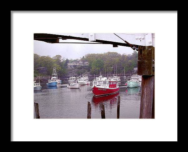 Boats Framed Print featuring the photograph Perkins Cove by Peter Williams