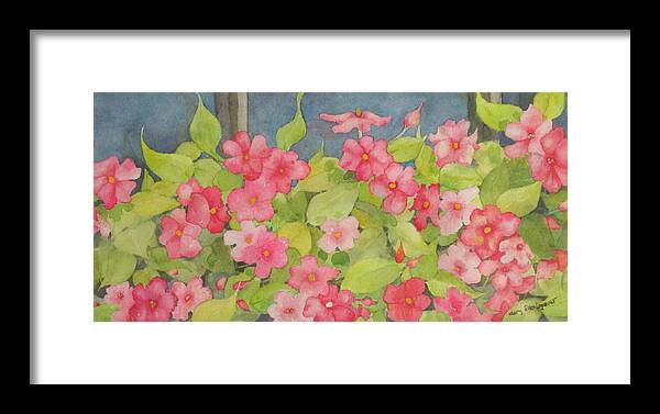 Flowers Framed Print featuring the painting Perky by Mary Ellen Mueller Legault