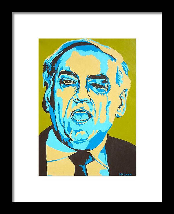 Politics Framed Print featuring the painting Perle by Dennis McCann