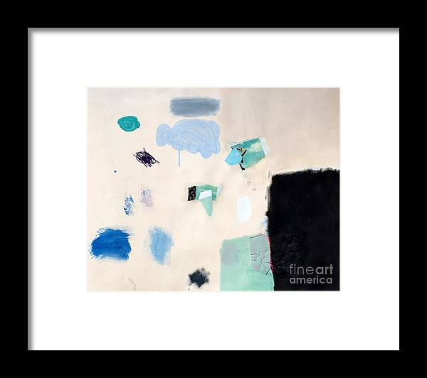 Abstract Art Framed Print featuring the mixed media Permutation by Diane Desrochers
