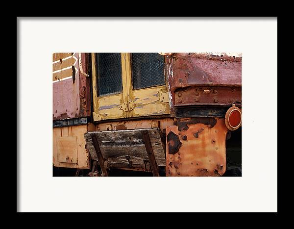 Trolly Framed Print featuring the photograph Perris Trolley by Lawrence Costales