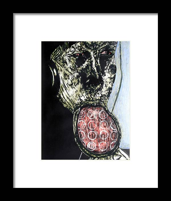 Portrait Framed Print featuring the mixed media Persephone by Chester Elmore
