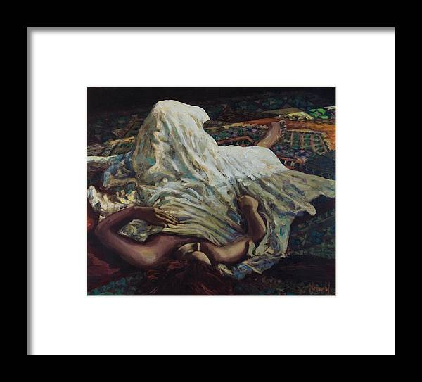 Figurative Framed Print featuring the painting Persian Rugs by Rick Nederlof