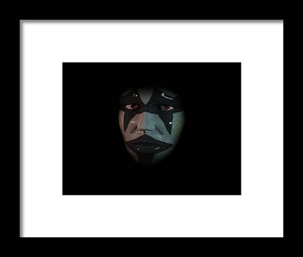 Portrait Framed Print featuring the digital art Persona by Mariusz Loszakiewicz