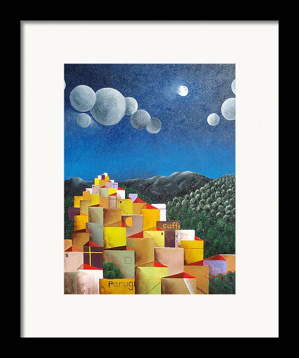 Italy Framed Print featuring the painting Perugia by Massimiliano Stanco