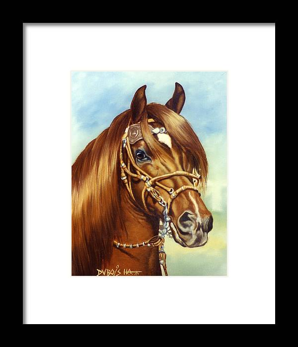 Peruvian Paso Framed Print featuring the painting Peruvian Beauty by Howard Dubois