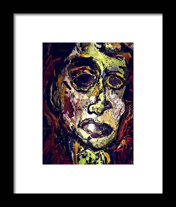 Framed Print featuring the painting Pessimist by Noredin Morgan