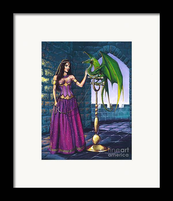 Dragon Framed Print featuring the painting Pet Dragon by Stanley Morrison