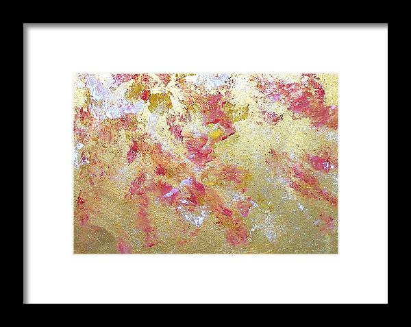 Abstract Framed Print featuring the painting Petal Abstraction by Michela Akers