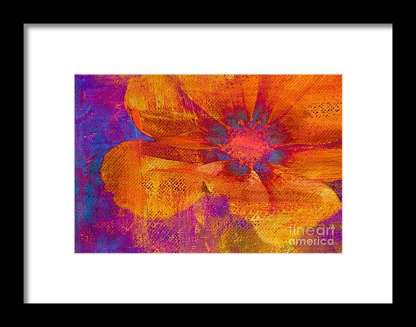 Flower Framed Print featuring the Petaline - T39a04b by Variance Collections