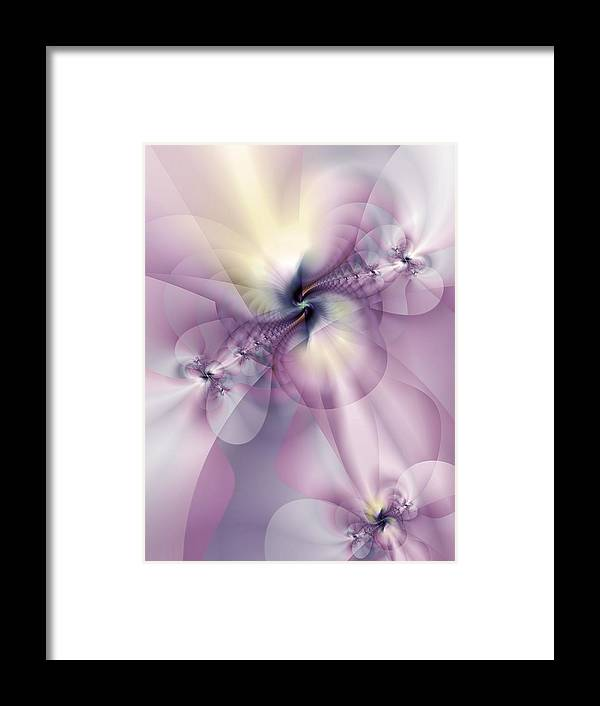 Abstract Framed Print featuring the digital art Petals Of Pulchritude by Casey Kotas