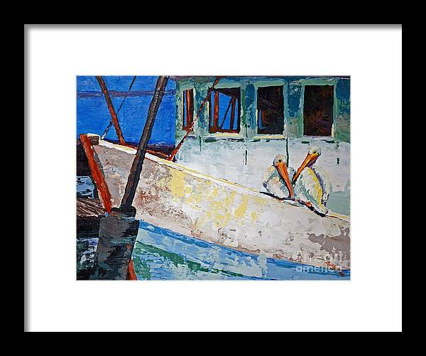 Acrylic Framed Print featuring the painting Pete And Repete by Suzanne McKee