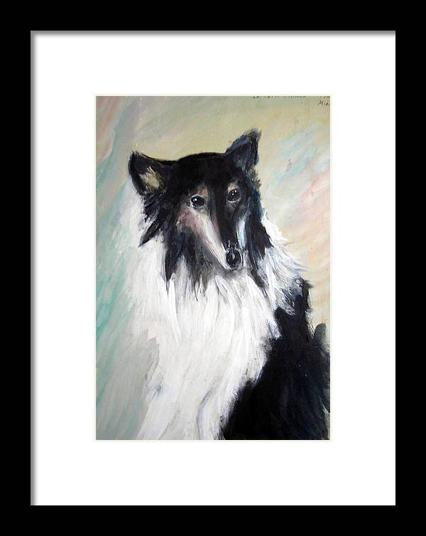 Animal Framed Print featuring the painting Petit Prince by Michela Akers