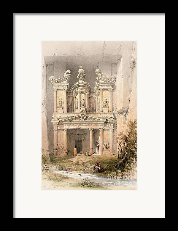 Petra Framed Print featuring the painting Petra by David Roberts