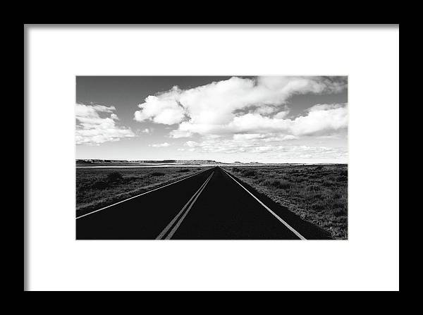B&w Framed Print featuring the photograph Petrified Forrest 4 by Ralph Muzio