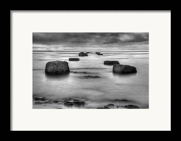 Landscape Framed Print featuring the photograph Phantom Pier by Ryan Wyckoff