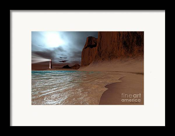 Lighthouse Framed Print featuring the painting Pharos by Corey Ford