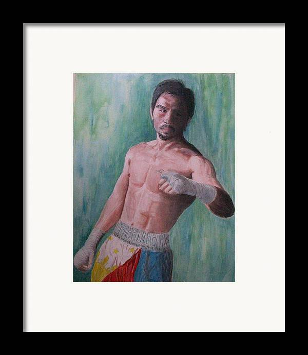Boxing Framed Print featuring the painting Phenomenal. by SAIGON De Manila