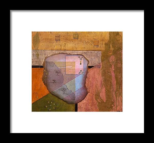 Abstract Landscape Framed Print featuring the painting Pheromones by Katherine Weston