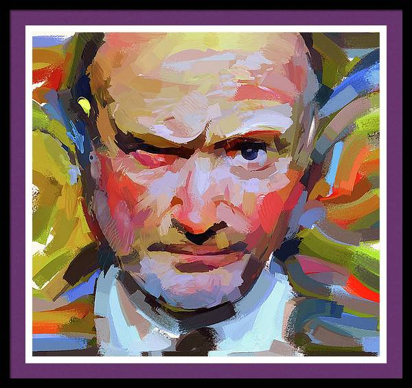 Phil Collins Serious portrait by Yury Malkov