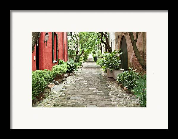 Philadelphia Alley Framed Print featuring the photograph Philadelphia Alley Charleston Pathway by Dustin K Ryan
