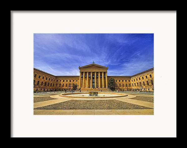Architecture Framed Print featuring the photograph Philadelphia Art Museum by Evelina Kremsdorf