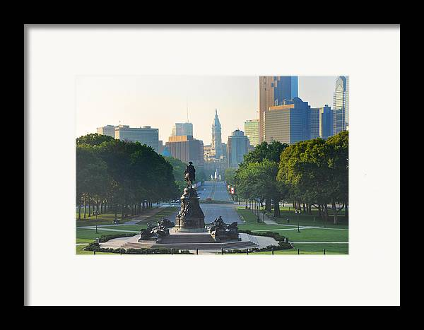 Philadelphia Framed Print featuring the photograph Philadelphia Benjamin Franklin Parkway by Bill Cannon