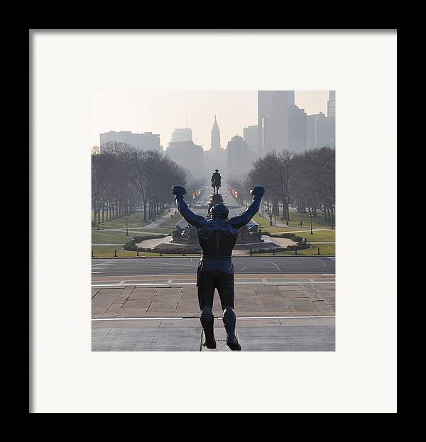 Philadelphia Champion - Rocky Framed Print featuring the photograph Philadelphia Champion - Rocky by Bill Cannon