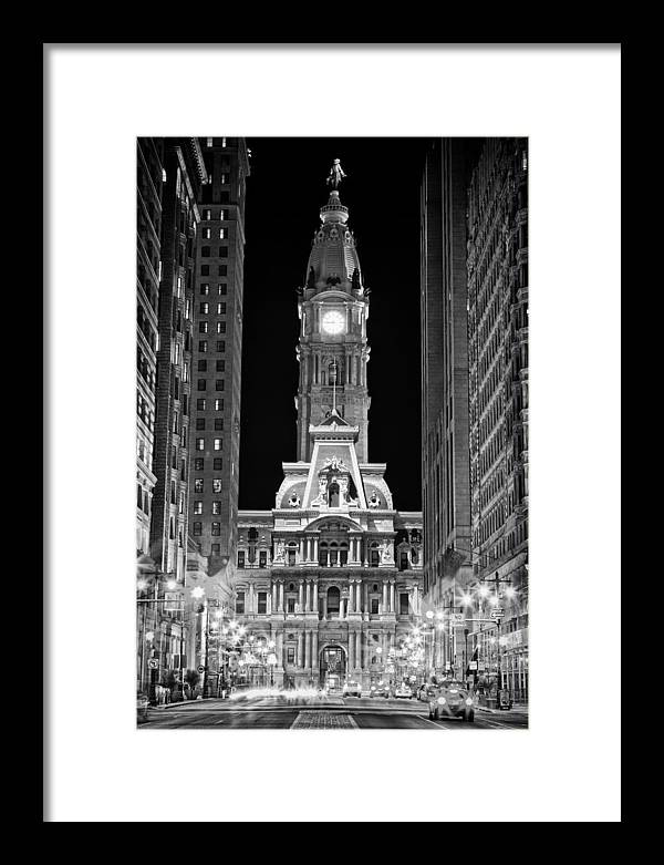 Philadelphia City Hall at Night by Val Black Russian Tourchin