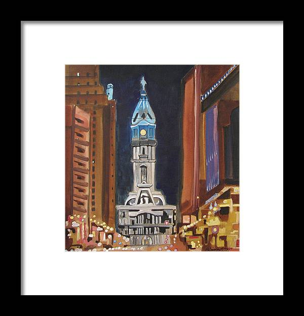 Landmarks Framed Print featuring the painting Philadelphia City Hall by Patricia Arroyo
