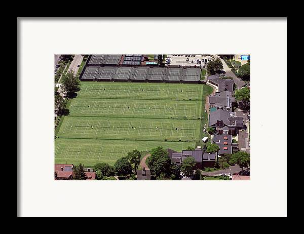 Philadelphia Cricket Club Framed Print featuring the photograph Philadelphia Cricket Club Us Jr International Grass Court Championships by Duncan Pearson