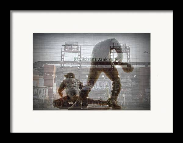 Philadelphia Framed Print featuring the photograph Philadelphia Phillies - Citizens Bank Park by Bill Cannon