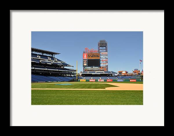 Philadelphia Phillies Framed Print featuring the photograph Philadelphia Phillies Stadium by Brynn Ditsche