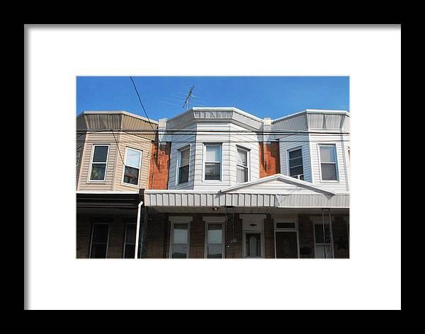 City Framed Print featuring the photograph Philadelphia Row Houses by Matt Harang